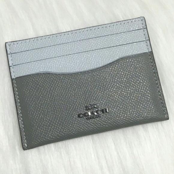 b9e065d0 💙 COACH LEATHER CARD HOLDER 💙 NWT